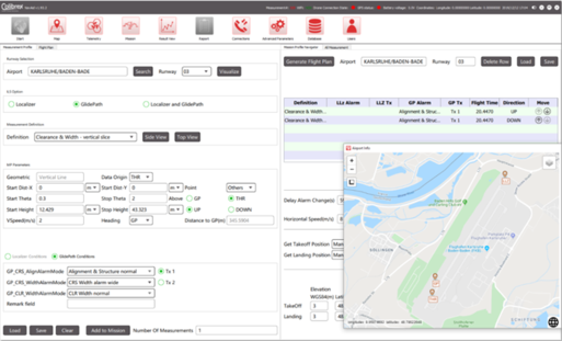 Measurement profiles and mission planning via NavAidDrone system software
